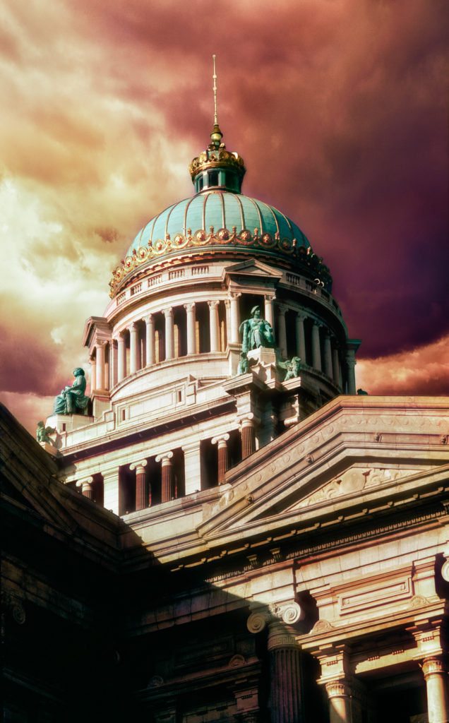 Photograph of the Domed Palais du Justice, Brussels, Belgium