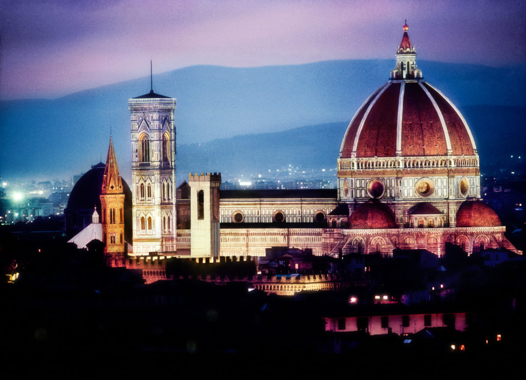Colour photograph of the Duomo, Florence Italy