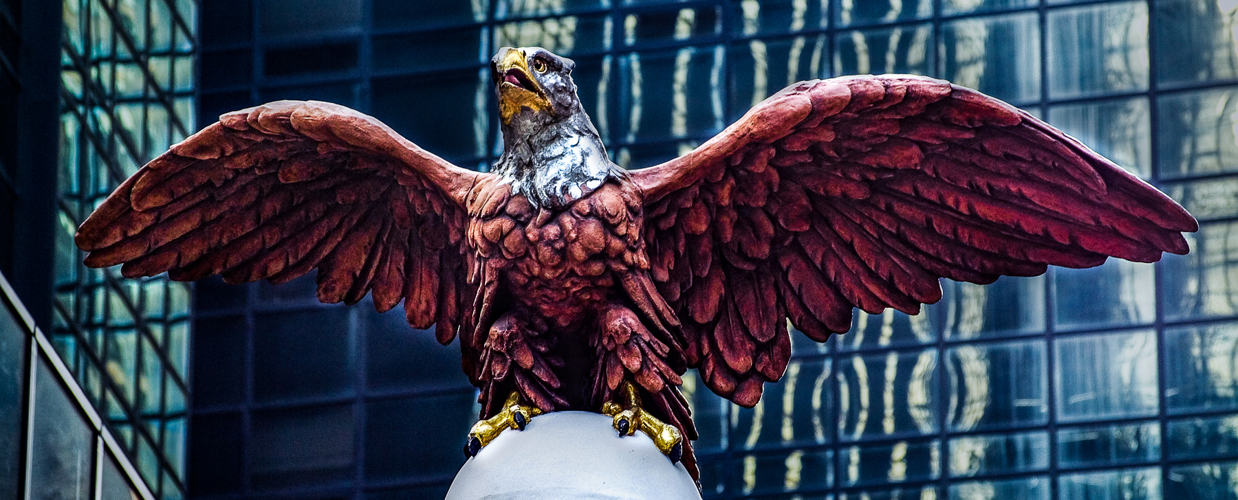 Photograph of statue of Eagle, New York City