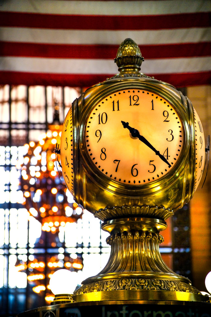 Photograph of New York City Grand Central Station clock