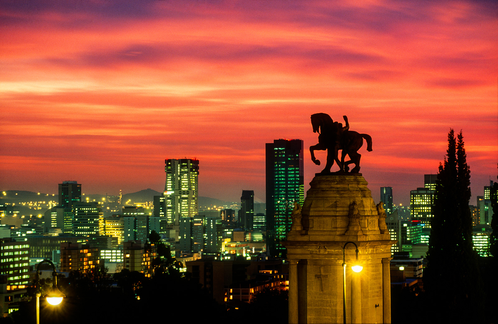Photograph of sunset over Pretoria, South Africa