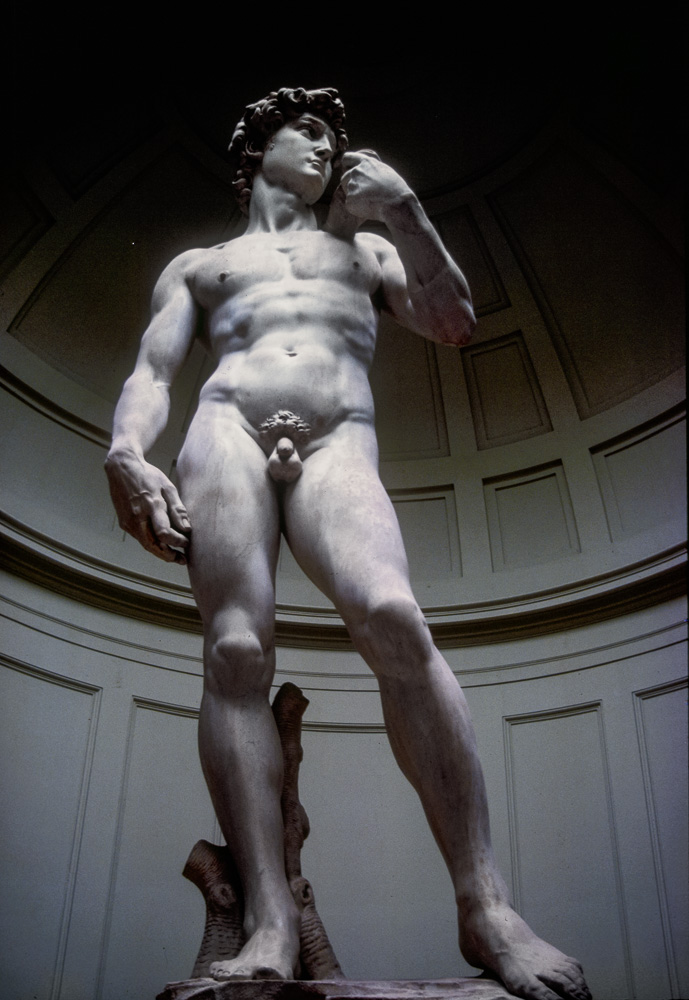 Photograph of Marble Statue of Michelangelo's David Florence, Italy